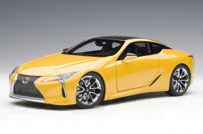 Metallic yellow Lexus LC500 AUTOart 78847 die cast AUTOart scale 1:18