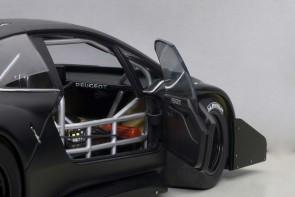 Peugeot 206 T16 Pikes Rade Car 2013 Black/Composite AUTOart 81356 Die-Cast Scale 1:18