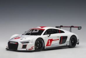 White Audi R8 LMS Geneva Presentation Car 2016 racing #1 AUTOart 81600 1:18