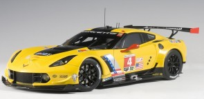 Yellow Corvette C7.R Lime Rock 2016 winner #4 Yellow AUTOart 81606 1:18