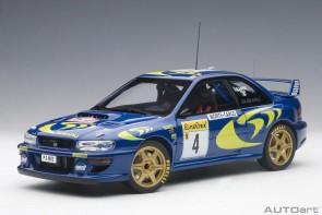 Blue Subaru Impreza WRC 1997 #4 89791 Rally of Monte Carlo AUTOart scale 1:18