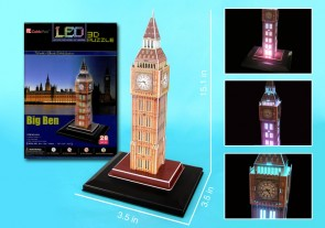 Big Ben 3D Puzzle With Base & Lights 28 Pieces