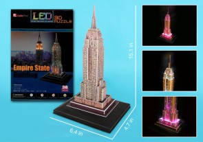Empire State 3D Puzzle With Base & Lights 38 Pieces