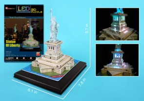 Statue Of Liberty 3D Puzzle With Base & Lights 37 Pieces