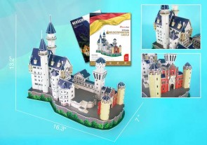 Neuschwanstein Castle 3D Puzzle With Book 98 Pieces