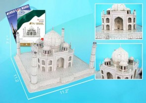 Taj Mahal 3D Puzzle With Book 87 Pieces