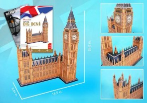 Big Ben 3D Puzzle With Book 116 Pieces