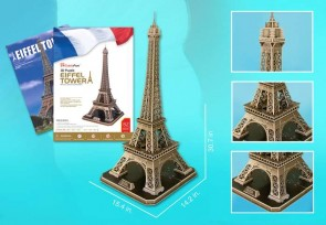 Eiffel Tower Large 3D Puzzle With Book 116 Pieces