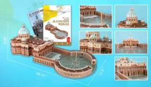 St Peters Basillca 3D Puzzle With Book 144 Pieces