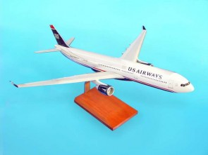 US Airways Airbus A330-300 Executive Series Scale 1:100 Airline: US Airways Aircraft: Airbus A330-300 Carved in mahogany or resin scale model scale 1:100 Item number: G17610
