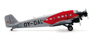 DDL Danish Air JU52 Herpa Ddl Danish Air JU52 1/160  HE019293