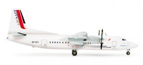 CityJet Fokker 50 Herpa wings 554640 scale 1:200