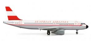 HERPA AUSTRIAN A320 1/200 50TH ANNIVERSARY RETROJET