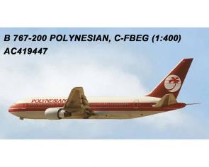 Polynesian Airlines Boeing B767-200 C-FBEG  AC419447 AeroClassics scale 1:400