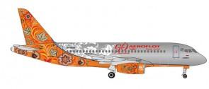Aeroflot 90th Anniversary Sukhoi Superjet 100 RA-89009 Herpa 531160 scale 1:500