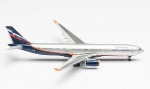 "Aeroflot Airbus A330-300 VQ-BNS ""A. Bakulev"" Herpa 517522-003 scale 1:500"