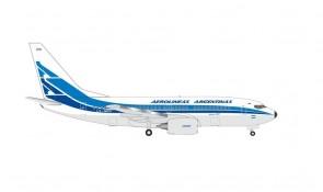 Aerolineas Argentinas Boeing 737-700 LV-GOO anniversary retro livery Herpa 534932 scale 1:500