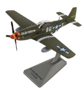 "AF1-0149 P-51D Mustang ""Old Crow"" Capt. C.E. Bud Anderson 357th FG, 363rd FS. Smithsonian Series Scale 1:72"