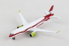 "Air Baltic Airbus A220-300 (Bombardier CS) ""Latvia 100"" YL-CSL Herpa 533171 scale 1:500"