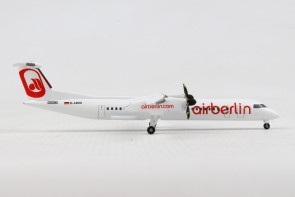 "Air Berlin Bombardier Q400 D-ABQQ ""Albino"" livery Herpa 531689 scale 1:500"