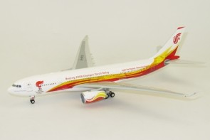 Air China A330-300 Olympic Games Registration B-6075 W/Stand Phoenix 02002 Scale 1:200