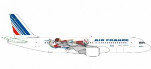 Air France 1998 World Cup Airbus A320 Reg F-GFKU Herpa 531405 scale 1:500