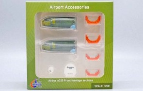 Airbus A320 Front Fuselage Sections 8 Pc set JC Wings JC2GSESETC scale 1:200