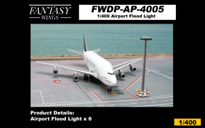 Airport Flood Light set of 6 Fantasy Wings airport accessories FWDP-AP-4005 scale 1:400