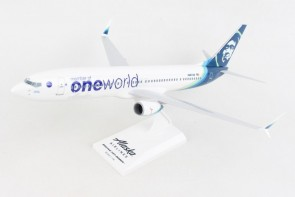 Alaska 737-900 One World N487AS Skymarks with stand SKR1081 scale 1:130
