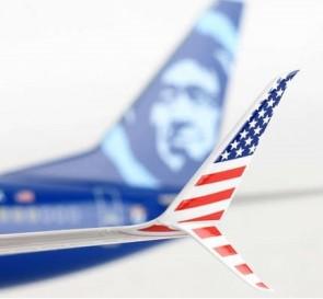 Alaska 737-900 Veterans N265AK Skymarks Supreme SKR8267 scale 1-100