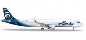 Alaska Airbus A321neo N928VA Herpa Wings 531894 scale 1:500
