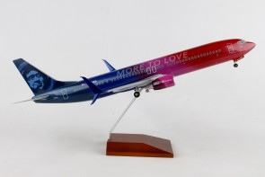 Alaska Boeing 737-900 More To Love N493AS stand & Gears Skymarks SKR8269 1:100