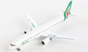"""Alitalia Airbus A321 EI-IXH """"Piazza della Signoria GUBBIO"""" Herpa 533959 scale 1:500"""