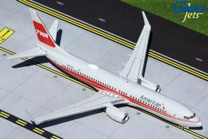 American Airlines TWA heritage livery Boeing 737-800(W) winglets N915NN Gemini 200 G2AAL473 scale 1:200