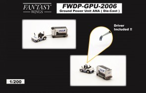 ANA All Nippon Ground Power Unit set with driver Fantasy Wings FWDP-GPU-2006 scale 1:200