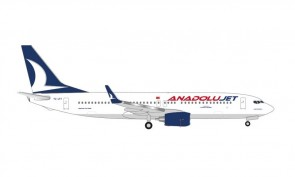 "AnadoluJet Boeing 737-800 TC-JFT ""Kastamonu"" Herpa Wings 535113 scale 1:500"