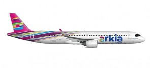 Arkia Israel Airbus A321neo 4X-AGH Fuchsia  livery Herpa 533928 scale 1:500