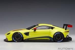 Aston Martin Vantage GTE Le Mans Pro 2018 Presentation Car Green with Stripes AUTOart 81807 Scale 1:18