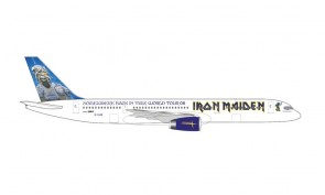"""Astraeus Iron Maiden Boeing 757-200 """"Ed Force One"""" Somewhere Back In Time World Tour 2008 G-OJIB Herpa diecast 535250 scale 1:500"""