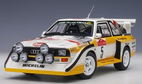 Audi Quattro S1 Rally San Remo 1985 Winner W.Rohrl-C.Geistdorfer #5 die-cast AUTOart 88503 scale 1:18