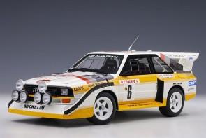 Audi Sport Quattro S1 Rally Monte Carlo 1986 H.Mikkola/A.Hertz #6 AUTOart 88602 scale 1:18