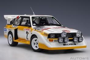 Audi Sport Quattro S1 Rally Monte Carlo 1986 W.Rohrl/C.Geistdorfer #2 AUTOart 88601 scale 1:18