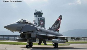Austrian Typhoons Austrian Air Force Eurofighter Typhoon Zeltweg Air Base Herpa 571210 scale 1:200