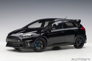 Black Ford Focus RS 2016 Shadow Black AUTOart 72952 die-cast scale 1:18
