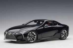 Black Lexus LC500 AUTOart dark rose interior AUTOart 78874 scale 1:18