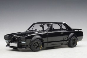 Black Nissan Skyline GT-R (KPGC-10) Racing 1972 AUTOart 87278 scale 1:18