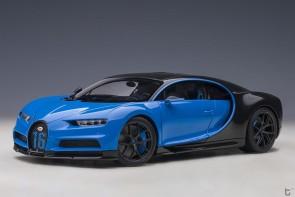 Blue Bugatti Chiron 2019 French Racing Blue/Carbon Black AUTOart 70997 die-cast scale 1:18