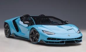 Blue Lamborghini Centenario Roadster, Blue Cepheus/Pearl Blue AUTOart 79206 scale 1:18