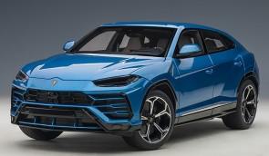Blue Lamborghini Urus Blue Elios/Metallic Blue AUTOart 79162 scale 1:18