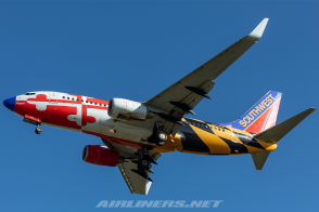 Blue nose Southwest Maryland One Boeing 737-800W N214WN old Canyon Blue tail NG Models 77008 scale 1:400